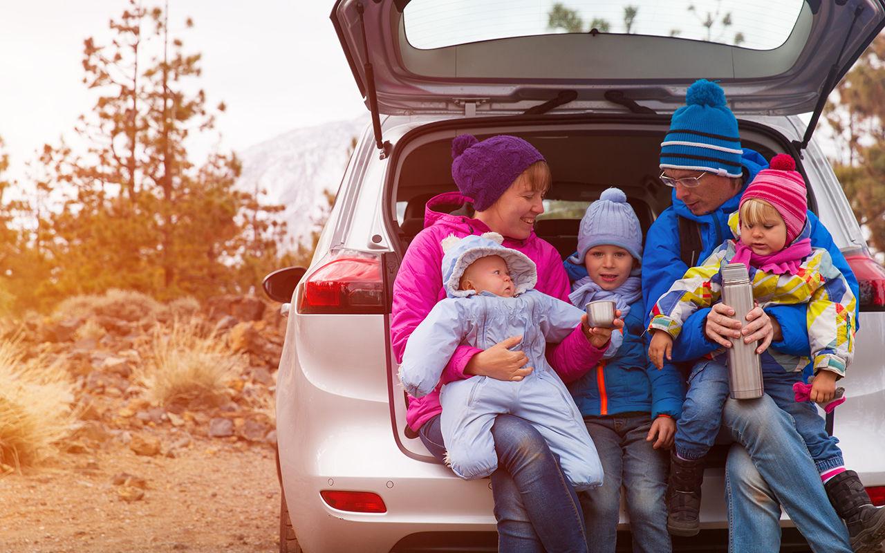 Картинки семья возле машины